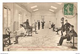 94 - SAINT MAURICE ASILE NATIONAL DES CONVALESCENTS SALLE DE MÉCANOTÉRAPIE - Éd. ELD - 1911 - 2 Scans - Saint Maurice