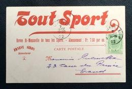 Carte Postale : Tout Sport - Revue Bi-mensuelle De Tous Les Sports - Bruxelles Gent Ernest Siron 1902 - Non Classés