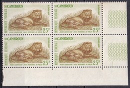 Camerun, 1962 -  25fr Lion, Quartina - Nr.397 MNH** - Camerun (1960-...)