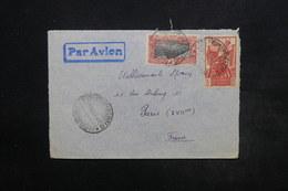 COTES DES SOMALIS - Enveloppe Par Avion Pour Paris En 1940 , Affranchissement Plaisant - L 24453 - Côte Française Des Somalis (1894-1967)