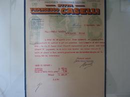 """Lettera Commerciale """"Premiata Distilleria Liquori DITTA FRANCESCO CASELLI SASSUOLO"""" 1932 - Italia"""