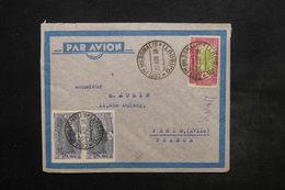 COTES DES SOMALIS - Enveloppe Par Avion Pour Paris En 1938 , Affranchissement Plaisant - L 24454 - Côte Française Des Somalis (1894-1967)