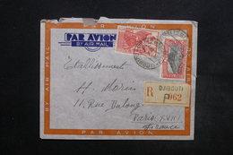 COTES DES SOMALIS - Enveloppe En Recommandé Pour Paris En 1940 , Affranchissement Plaisant Recto Et Verso - L 24455 - Côte Française Des Somalis (1894-1967)
