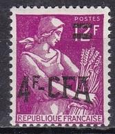 Reunion, 1957/0 4fr On 12fr Farm Woman - Nr.326 MNH** - Isola Di Rèunion (1852-1975)