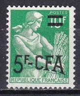 Reunion, 1957/60 5fr On 10fr Farm Woman - Nr.327 MNH** - Isola Di Rèunion (1852-1975)