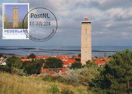 D36278 CARTE MAXIMUM CARD 2014 NETHERLANDS - TERSCHELLING BRANDARIS PHARE VUURTOREN LIGHTHOUSE CP ORIGINAL - Lighthouses