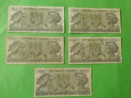 500 Lire 1966 5 Pezzi - [ 2] 1946-… : République