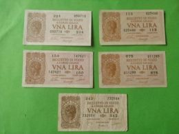 1 Lira 1944 5 Pezzi - [ 1] …-1946 : Regno