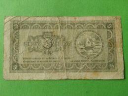 Istria Litorale Sloveno 5 Lira 1945 - [ 6] Colonie