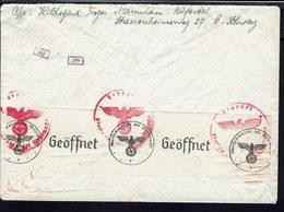 Allemagne - 1932-36 - Timbre 25 Pf M. Hindenburg Sur Enveloppe De Mannheim Pour Basel - Contrôle De La Censure - B/TB - - Allemagne