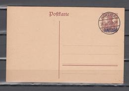 Danzig 1920,ganzsache, Postkarte Mi P5,gestempelt(D2669) - Danzig