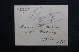 MADAGASCAR - Cachet De Surtaxe Aérienne Sur Enveloppe Commerciale De Diégo Suarez Pour Paris En 1945 - L 24462 - Madagascar (1889-1960)
