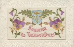 Themes Div-ref AA953- Brodées -carte Brodée - Souvenir De Vaucouleurs -fleurs Et Blason Brodés  - Carte Bon Etat - - France