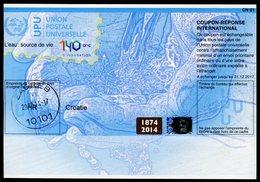 CROATIE  140 Ans !  Coupon Réponse International / International Reply Coupon - Croatie