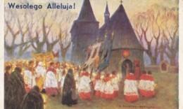 AN06 Greetings - Wesolego Alleluja - Polish Easter Greeting, Artist Signed - Easter