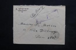 MADAGASCAR - Cachet De Surtaxe Aérienne  Sur Enveloppe Commerciale De Diégo Suarez Pour Paris En 1945 - L 24463 - Madagascar (1889-1960)