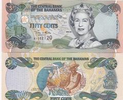 Bahamas - 1/2 Dollars 2001 AUNC ( 50 Cents ) Lemberg-Zp - Bahamas