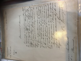 Baron De Montpellier Gouverneur 1899 Namur - Autographes
