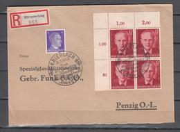 DR 1943,Mi.4x856,785 Auf Brief,gestempelt,gelaufen Mit Einschreiben,(D2672) - Deutschland