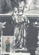 D36296 CARTE MAXIMUM CARD 1993 BELGIUM - MADONNA CHAPEL CHURCH BRUSSELS CP ORIGINAL - Scultura