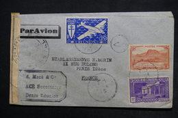RÉUNION - Enveloppe Commerciale De St Denis Pour Paris En 1945 Avec Contrôle Postal,affranchissement Plaisant - L 24468 - Reunion Island (1852-1975)