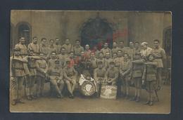 MILITARIA CARTE PHOTO MILITAIRE GROUPE DE SOLDATS DU 191e HONNEUR AU PERE CENT NON ECRITE : - Personnages