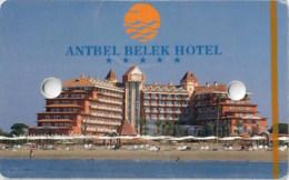Antbel Belek Hotel Serik Antalya Turkey ---Hotel Room Key Card, Hotelkarte, Clef De Hotel--- - Hotel Keycards