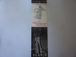 """Segnalibro """"11 - 15 Luglio 1995 Primo Simposio Nazionale Liuteria SCARIO MUSICA"""" - Segnalibri"""