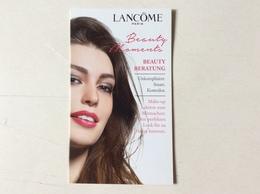 Double Carte Maquillage Lancôme - Cartas Perfumadas