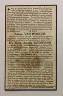 Tielt Meensel - Bidprentje Oorlog Alfons Van Wanghe / Joseph Boesmans - Religion & Esotérisme