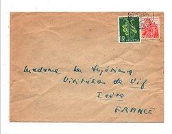 SUISSE AFFRANCHISSEMENT COMPOSE SUR LETTRE  POUR FRANCE 1948 - Schweiz