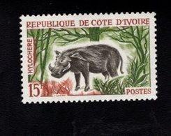 729019760 IVORY COAST POSTFRIS MINT NEVER HINGED POSTFRISCH EINWANDFREI  SCOTT 206 ANIMALS FOREST HOG - Côte D'Ivoire (1960-...)