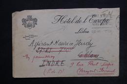 PORTUGAL - Enveloppe De L 'Hôtel De L'Europe à Lisbonne En FM Pour La France - L 24475 - 1910-... République