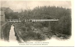 LA REUNION ST JOSEPH  Pont Sur La Rivière Des Remparts   Animée   TRES BON ETAT - La Réunion