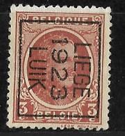 Luik 1923 Typo Nr. 82B - Préoblitérés