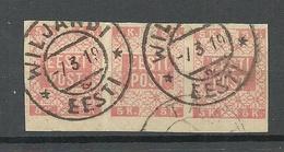 ESTLAND ESTONIA 1918 Michel 1 As 3-stripe O Viljandi Fellin - Estonie