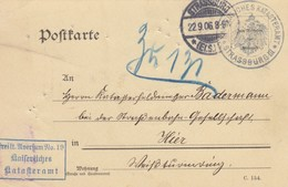 CARTE 1906. STRASSBURG POUR HIER. KAISERLICHES KATASTERAMT - Allemagne