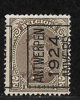 Antwerpen 1924 Typo Nr. 88AIII - Préoblitérés