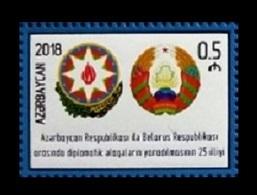Azerbaïjan 2018 Mih. 1399 Diplomatic Relations With Belarus. State Arms (joint Issue Azerbaijan-Belarus) MNH ** - Azerbaïdjan