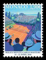 Monaco 2018 Mih. 3379 Tennis. 2018 Rolex Monte-Carlo Masters MNH ** - Monaco