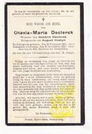 DP Otavia M. Declerck ° Ichtegem 1861 † Bekegem 1930 X H. Declerck Xx A. Hostyn - Images Religieuses