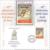 Tunisie 2019-50 ème Anniversaire De La Création De La Bourse De Tunis Série (1v)+FDC - Tunisia