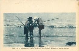 85 SAINT-JEAN-DE-MONTS. Enfants à La Pêche Aux Crevettes - Saint Jean De Monts