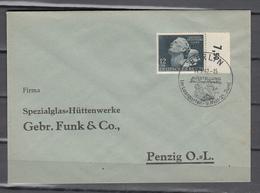 DR 1942,Mi  812 Mit Randstuck Auf Brief Mit Sp,stempel Berlin,Ausstellung Das Sowjet/Paradies,im Lustgarten(D2679) - Lettres & Documents