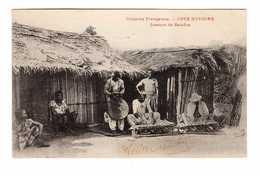 Cote D' Ivoire Joueurs De Balafon Colonies Françaises + Timbre 2 Timbres AOF Cachet 1908 - Elfenbeinküste
