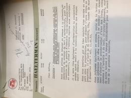 BRASSERIE HAELTERMAN Correspondance 1972 à 1976 -7 Documents Commerciaux Immobilier Bruxelles À Examiner - Alimentaire