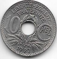 France 10 Centimes  1927 Km 866a   Xf+ - France