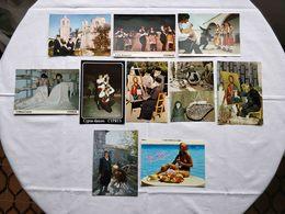 VINTAGE POSTCARD LOT X 10 CYPRUS - PEOPLE , FOLKLORE , PRIESTS , TRADITIONS UNUSED - Chypre