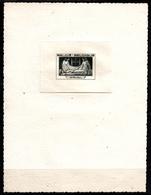 BELGIQUE - ORVAL - EPREUVE D'ARTISTE NOIRE - TYPE NON EMIS - RARE - WW II