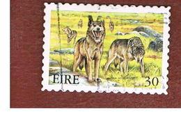 IRLANDA (IRELAND) - SG 1277  - 1999  EXTINT IRISH ANIMALS: WOLVES  - USED - 1949-... Repubblica D'Irlanda